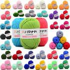 New 42 colors Soft Cotton Bamboo Crochet Knitting Yarn Baby Knit Wool Yarn