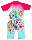 Girls My Little Pony Pinkie Pie Floral All in One Sunsafe Swimsuit 1.5 - 5 Years