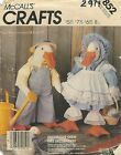 "McCall's 2974 Geese Stuffed Animals with Clothes 21"" & 6""   Sewing Pattern"
