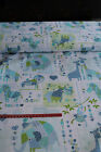 Blue Zoo lions elephant zebra hippo / material 100% cotton fabric 110cm wide