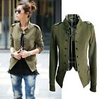 Autumn Women Slim Fit Short Military Jacket Double Breasted Casual Coat Tops New