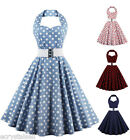 CHEAP SALE 50'S 60'S ROCKABILLY DRESS Vintage Polka Flare Swing Pinup Housewife