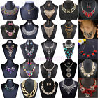 Fashion Crystal Rhinestone Chain Necklace Pendant Earrings Sets Womens Jewelry