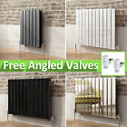 Horizontal Flat Panel Central Heating Rads Designer Radiators With Angled Valves