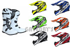 New Wulfsport Helmet & Boots Bundle Motocross Enduro Trail White YZ CRF KTM YZF