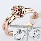 A1-R277 'Heart In Heart' Fashion Ring Sets 18KGP Size 5.5-8