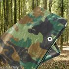 CAMOUFLAGE TARPAULIN WATERPROOF CAMPING COVER, HUNTING, FISHING, CAMO TARP