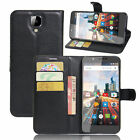 Card Holder Flip PU Leather Wallet Case Skin For 5.5inch Archos 55 Helium Ultra