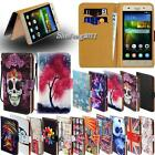 Leather Stand Flip Wallet Cover Phone Case For Huawei Honor 2/3/4/5/6/8 Models
