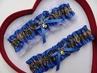 NEW Mossy Oak Camouflage Camo Royal Blue White Wedding Garter Prom Hunting Chick