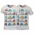 Boys T Shirt Brave Soul Kids Short Sleeved Car Mini America USA Print Crew Neck