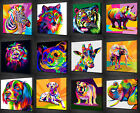 ABSTRACT ANIMALS COLLECTION VIBRANT CANVAS WALL ART PRINT PICTURE MANY TO CHOOSE
