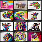 COLOURFUL ANIMALS COLLECTION CANVAS WALL ART PRINT PICTURE MANY TO CHOOSE