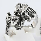 A1-R124 Fashion Chinese Dragon or 'LONG' 18KGP Ring No Stone Size 6.5-10