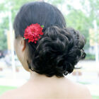 Curly Faux Hair Ponytail Wigs Synthetic Hair Make Up Curly Hairpiece Wigs