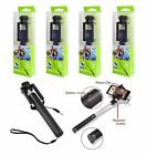 Samsung iPhone Smartphone Wired Remote Extendable Handheld Selfie Stick Monopod