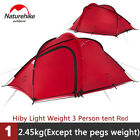 Double Layer Lightweight Camping Tent 3 Person Outdoor Family Tent for 3 Season