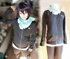 Noragami Yato Cosplay Costume Sports Suit Whole Set Clothes + Pants + Scraf new
