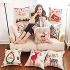 Christmas Pattern Breathable Fluid Systems Square Cushion Cover Pillowcase