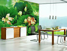 3D Lotus leaf Dragonfl Wall Paper Murals Wall Print Decal Wall Deco AJ WALLPAPER