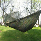 Military Jungle Hammock W Mosquito Net Camping Travel Parachute Hanging Bed Tent