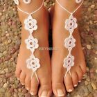Barefoot Crochet Sandals Bohemian Hand-made BOHO Beach Sandals Knit Anklet K0E1
