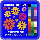 Flower Design Shapes Strips of Cut Self Adhesive Vinyl Stickers in Various Sizes
