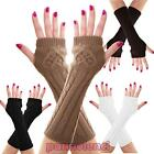 Women's gloves knitted fingerless winter long warm warm mani new 803