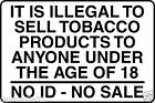 It Is Illegal To Sell Tobacco Sign Self Adhesive Cut Vinyl Text 180mm x 270mm