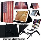 "Folio Stand Leather Cover Case For Various 7"" 8"" 10"" Lenovo Model Tablet+STYLUS"