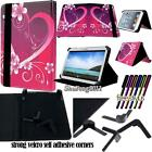 """New Folio Stand Leather Cover Case For Samsung Galaxy Note 8.0 / 10.1"""" + STYLUS"""