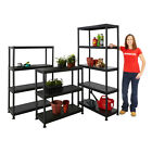 Garden Plastic Storage Shelves Garage Shed Outdoor Plant Greenhouse BiGDUG