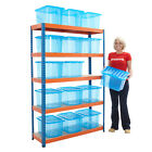 Boltless Garage Shelving Racking With 15 Storage Boxes Organise Garage Box Deal