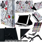 "For Various 7"" Models Tablet - Universal Folio Stand Leather Cover Case + STYLUS"