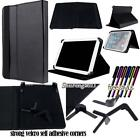 "Universal Folio Stand Leather Cover Case For Various 7"" Models Tablet + STYLUS"