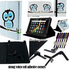 """Folio Stand Leather Cover Case For Various 7"""" 8"""" 9"""" 10"""" Polaroid Tablet + STYLUS"""