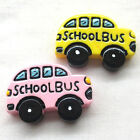School Bus Resin Flatback For phone Cover DIY Craft Appliques 2colors B0472