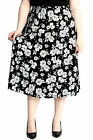 New Ladies Skirt Womens Plus Size A-Line Maxi Style Long Elasticated Nouvelle