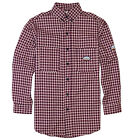 Rasco FR Men's Flame Resistant Red Plaid Work Shirt NFPA 2112 Rated