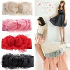 New Women's Classic Double Rose Buckle Style Elastic Belt Waistband 5 Colors EA