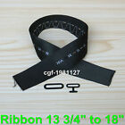 "Bow Tie Hardware Size Ribbon Strip Metal T Hook and Eye Ribbon 13 3/4"" to 18"""