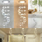 3W LED Crystal Concealed Ceiling Light Small Chandelier Lamp Pendant Hallway USA
