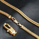 6MM Charm Womens 18K Gold Plated Stainless Steel Snake Necklace Bracelet