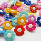 50/100/500pcs Flower Plastic Button Sewing Buttons Craft Doll Kid Appliques
