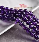 0113  Natural Amethyst 64 Faceted Amethyst beads strand