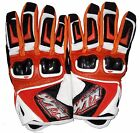 KTM MOTORCYCLE RIDING GLOVES ORANGE WITH WHITE BLACK COLOR
