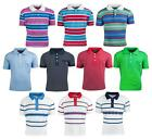 Boys Assorted Slim Fit Stripe Polo Collared T-Shirt Summer Tops 2 to 10 Years