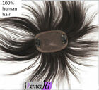 Swiss Lace & PU 100% Human Hair Extensions Topper Hairpiece Top Closure