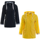Women's Hooded Rain Mac Retro Style Mac Ladies Showerproof Jacket Coat