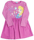 Girls Disney Frozen Snow Queen Elsa Long Sleeve Dress 12 Months to 5 Years